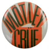Motley Crue - 'Name Red' Button Badge